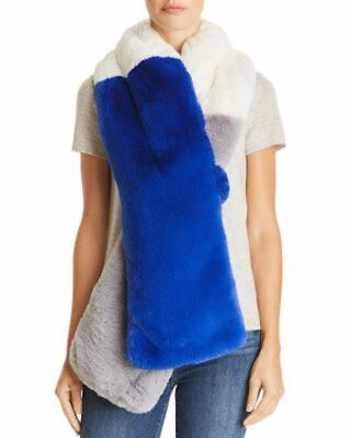 Heurueh Women's Color Block Faux Fur Scarf One Size $128