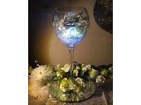 Wedding Centrepiece Light up Wine Glass