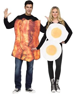 Bacon And Eggs Couples Costume Size OS - Egg And Bacon Halloween Costume