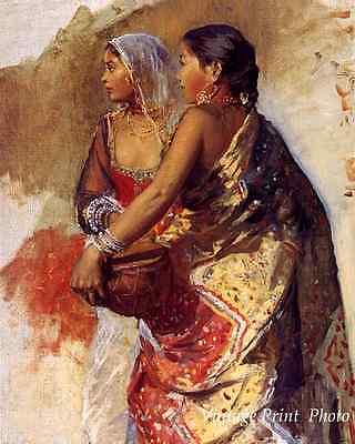 Nautch Girl (Two Nautch Girls by Edmund Lord Weeks - Art Indian Dancers 8x10 Print)