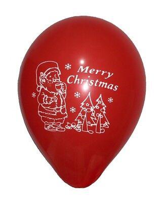 18x MERRY CHRISTMAS BALLOONS RED WHITE AND GREEN SANTA XMAS DECORATION FREEPOST!