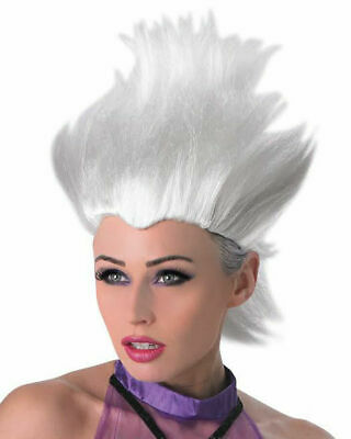 Disney Ursula Wig (Ursula White Wig Adults Kids Disney Little Mermaid Villain Costume Accessory)