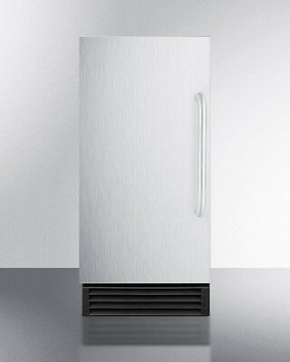 Summit Bim44g 15 Ice Maker Built In Freestanding Frost Free Stainless Steel