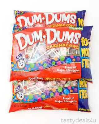 3 x Spangler Dum Dums Original Pops Fun Flavors + The Mystery Flavor 11.4 oz Bag