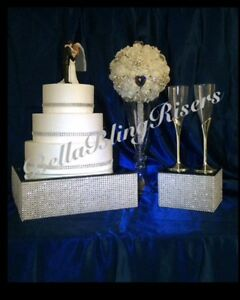 Silver Bling Cake Stand Riser 30cm with BONUS 15cm Riser Fairfield Heights Fairfield Area Preview