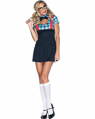 Naughty Nerd Costume for Women size S/M (4-8) New by Leg Avenue 85032 - Nerd Costume For Halloween