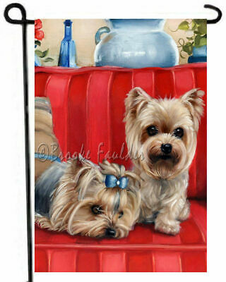Yorkshire Terrier YORKIE GARDEN FLAG puppies outdoor decor D