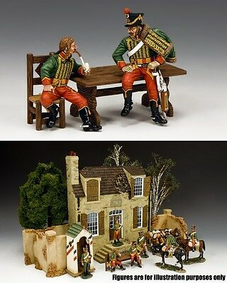 KING & COUNTRY AGE OF NAPOLEON NA309 FRENCH HUSSAR'S THE CONVERSATION MIB