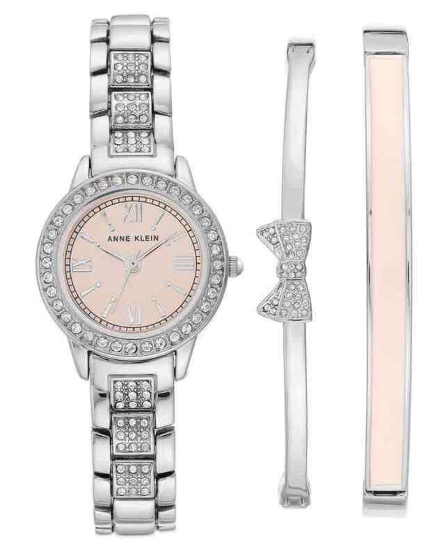 Anne-Klein-Pink-Dial-Quartz-Ladies-Watch-and-Bracelet-Set-AK-3334LPST