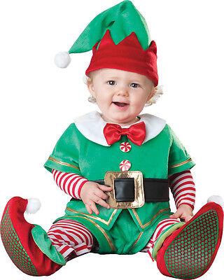 Santa's Lil Elfen Kleinkinder Kostüm Reißverschluss Overall