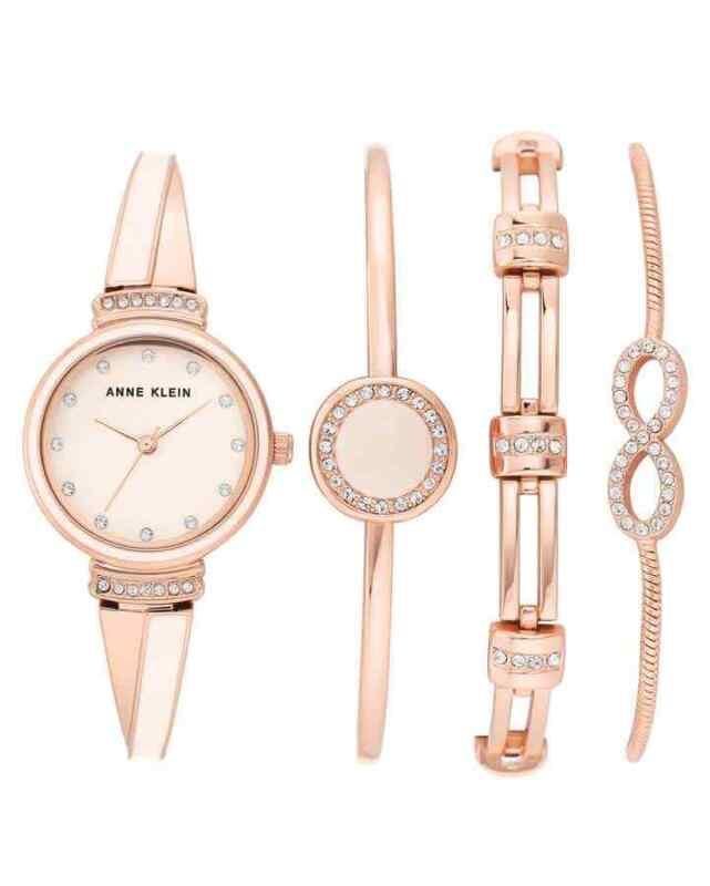 Anne-Klein-Quartz-Pink-Dial-Ladies-Watch-and-Bracelet-Set-AK-3578BHST