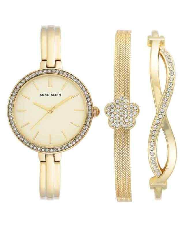 Anne-Klein-Quartz-Ladies-Watch-and-Bracelet-Set-AK-3398GBST