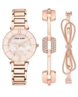 Anne Klein MOP Dial Quartz Ladies Watch AK/3366BHST