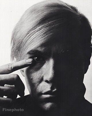 1968 Vintage ANDY WARHOL Pop Art Gay Artist Factory Photo PHILIPPE HALSMAN 16x20