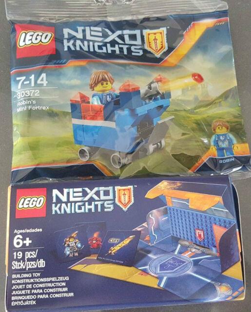 Lego Exclusive 30372 Nexo Knights Robin's Mini Fortrex & 5004389 Battle Arena