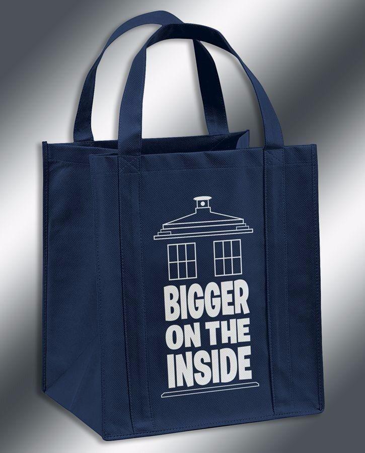 Bigger On The Inside Doctor Who TARDIS Inspired Reusable Grocery Bag