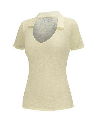 Adidas Mujer Essentials Flameado Golf Polo (S) B82683 Desteñir Sol