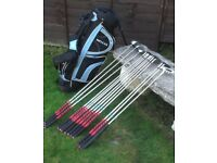 Full set of Dunlop MX11 Clubs and Standbag.