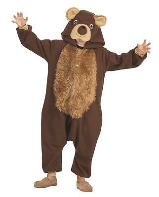 CHILD BAILEY THE BEAR COSTUME TEDDY CUB FOREST ANIMAL PAJAMAS BROWN FUNSIES KID