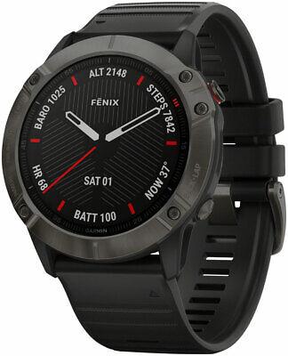 Garmin Fenix 6X Sapphire GPS Watch - Carbon Gray/Black