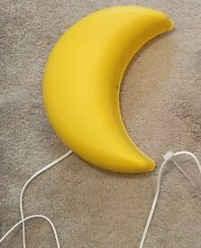 Ikea yellow moon children's wall light