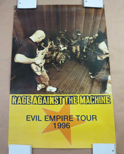 RAGE AGAINST THE MACHINE - Original Promo/Tour Poster 1996 - UNUSED!