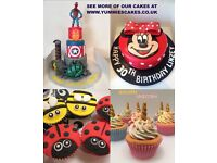 Custom Made Beautiful Childrens Birthday Cakes & Cupcakes - Also Wedding - Baby - Adult Novelty