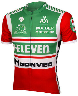 7 Eleven Cycling Jersey Retro Road Men Pro Clothing Mtb Short Sleeve Half Zipper