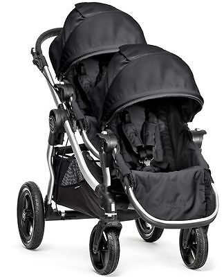 Baby Jogger City Select Twin Tandem Double Stroller Onyx with Second Seat 2018