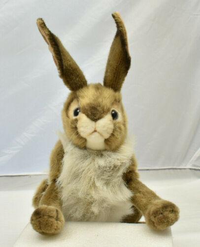 "Large 14"" Hansa Easter Bunny Rabbit Poseable Plush Stuffed"