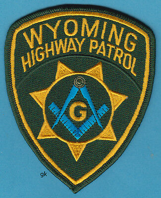 WYOMING HIGHWAY PATROL MASON MASONIC POLICE SHOULDER PATCH
