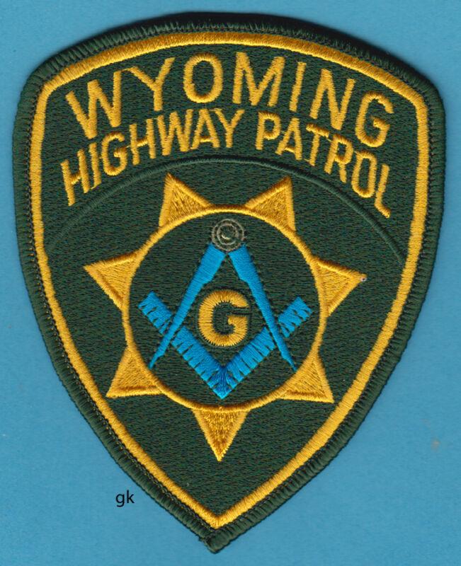 WYOMING HIGHWAY PATROL MASON MASONIC POLICE SHOULDER PATCH