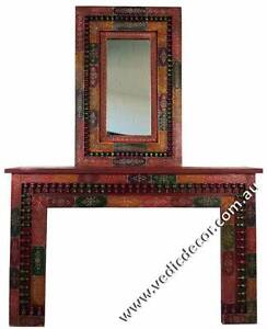 MEHNDI (HENNA) PAINTED CONSOLE TABLE AND MIRROR SET Pooraka Salisbury Area Preview