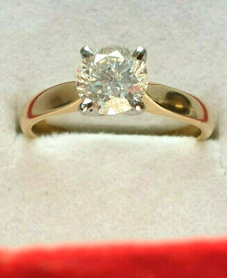 18ct Gold Natural 1.00ct Diamond Solitaire Col H SI1 Size L 1/2 US 6 Mint No Res, used for sale  Shipping to South Africa