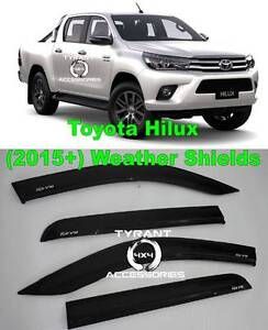 ALL NEW Toyota Hilux SR5 SR Workmate 2015+ BLACK Weathershields Kings Park Blacktown Area Preview