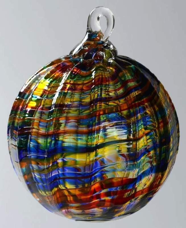 Glass Eye Studio CLASSIC BALL ORNAMENT Rainbow Kaleidoscope 9467508