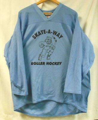 Roller Hockey Apparel (ROLLER HOCKEY JERSEYS - BAKKA -  SET OF 6  - LT BLUE  - ADULT L    FREE SHIP   )