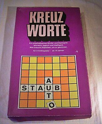 """05 191 PIKO DDR Würfelspiel """"Kreuz Worte"""",Neuwertig,ab 10 Jahre,mit Anleitung ()"""