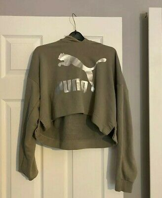 Womans Puma cropped hoodie size 12