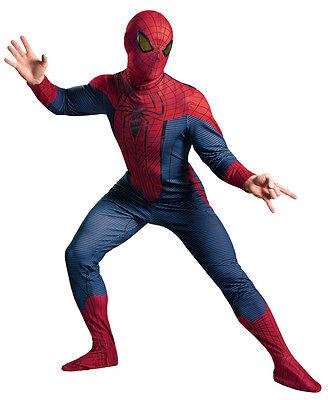 THE AMAZING SPIDER-MAN MOVIE DELUXE PLUS ADULT MEN COSTUME Superhero Halloween - Amazing Halloween Costumes For Men
