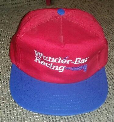 Vintage New Unworn Promo Baseball Cap Snapback Hat Wunder-bar Soda Gun Bartender