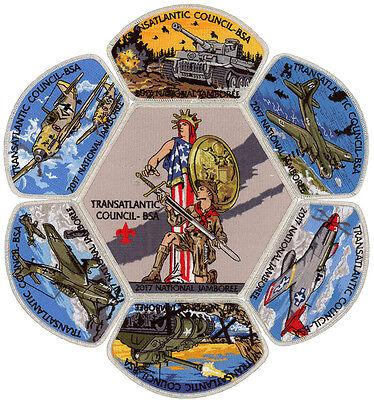 2017 Boy Scout Jamboree Transatlantic Council JSP CSP Patch Badge Set Lot BSA