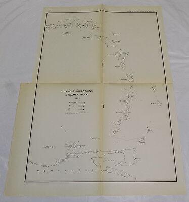 1890 Coast & Geodetic Survey Map/ISLANDS BETWEEN VIRGIN ISLANDS/VENEZUELA/B/1889