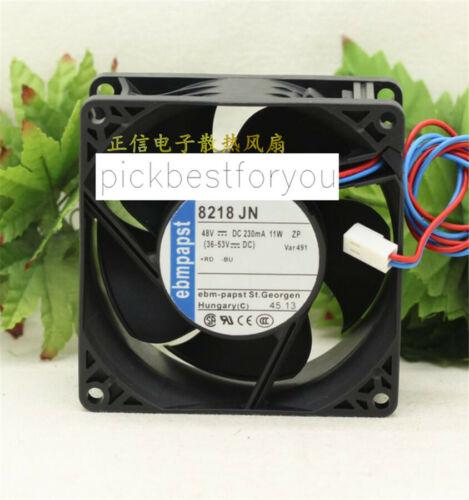 1pc Ebmpapst 8218 JN 8038 48V 230mA 11W 48V cooling fan 2pin Warranty #M956C QL