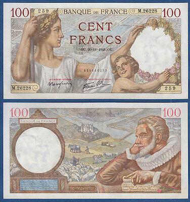 FRANKREICH / FRANCE 100 Francs  20.11.1941 aUNC P.94
