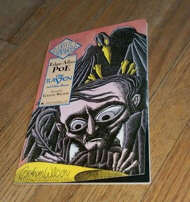 Classics Illustrated Edgar Allan Poe The Raven and other poems Gahan Wilson 1990