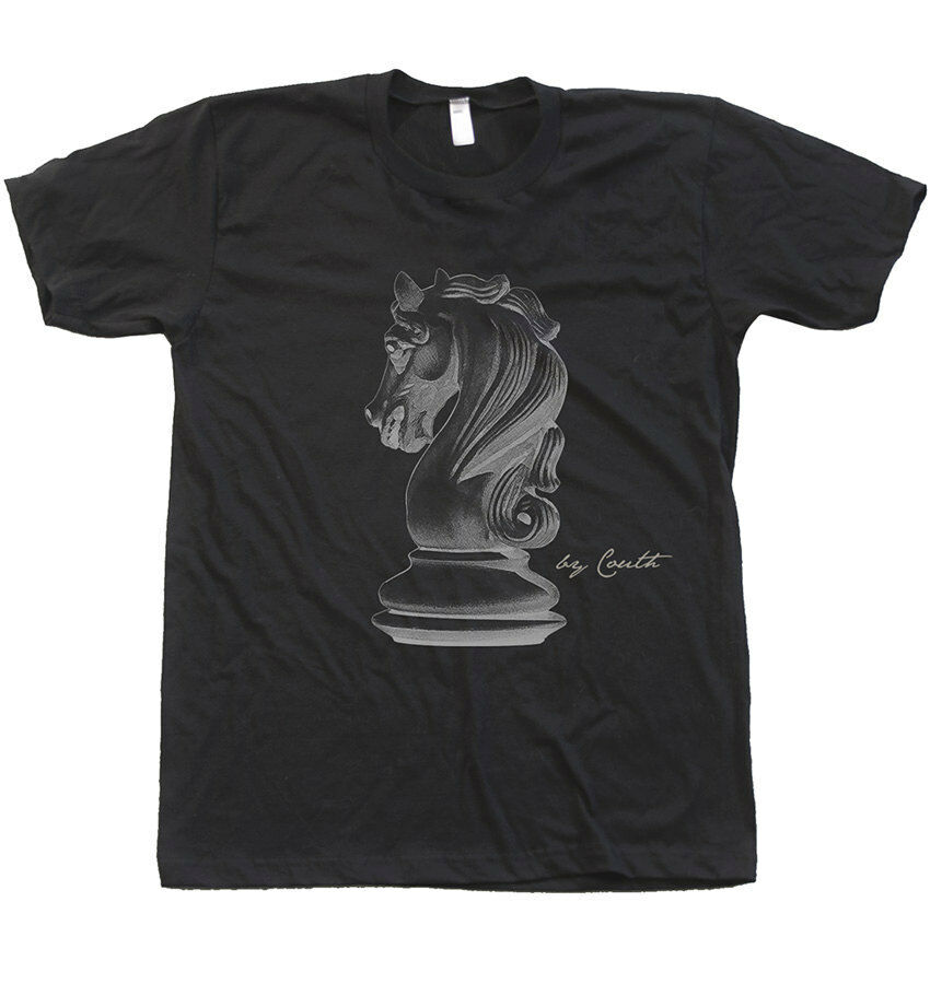 Buy Best CHESS Knight American Apparel Men's Crew Neck Tshirt Screen Print Fashion Shirt.