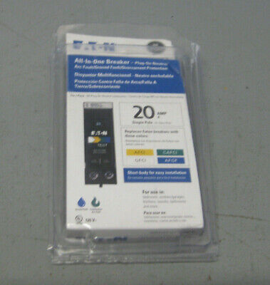 Eaton All-in-one Circuit Breaker Arc Faultground Fault 20 Amp Single Pole