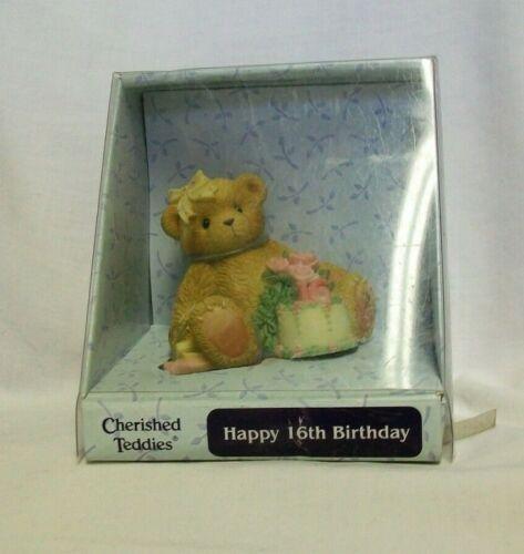 Cherished Teddies – Happy 16th Birthday Bear Figurine #4001898 – 2004