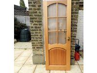 Mahogany Glazed Interior door ***free***